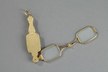 Gold lorgnette 19th century.