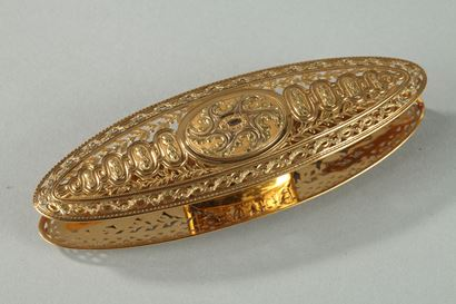 LARGE GOLD SPOOL. <br/>