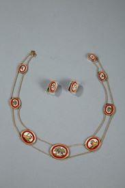 MICROMOSAIC DEMI - PARURE SET.<br/> EARLY 19TH CENTURY