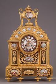 Mantel clock by j-b delettrez. <br/>