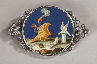 Micromosaic Attributed to Giacomo Raffaelli. Circa 1790-1800.