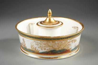 Porcelain Inkwell.