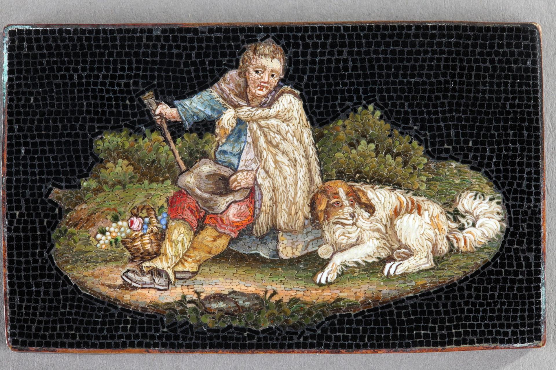Micromosaic of Shepherd. Early 19th Century.