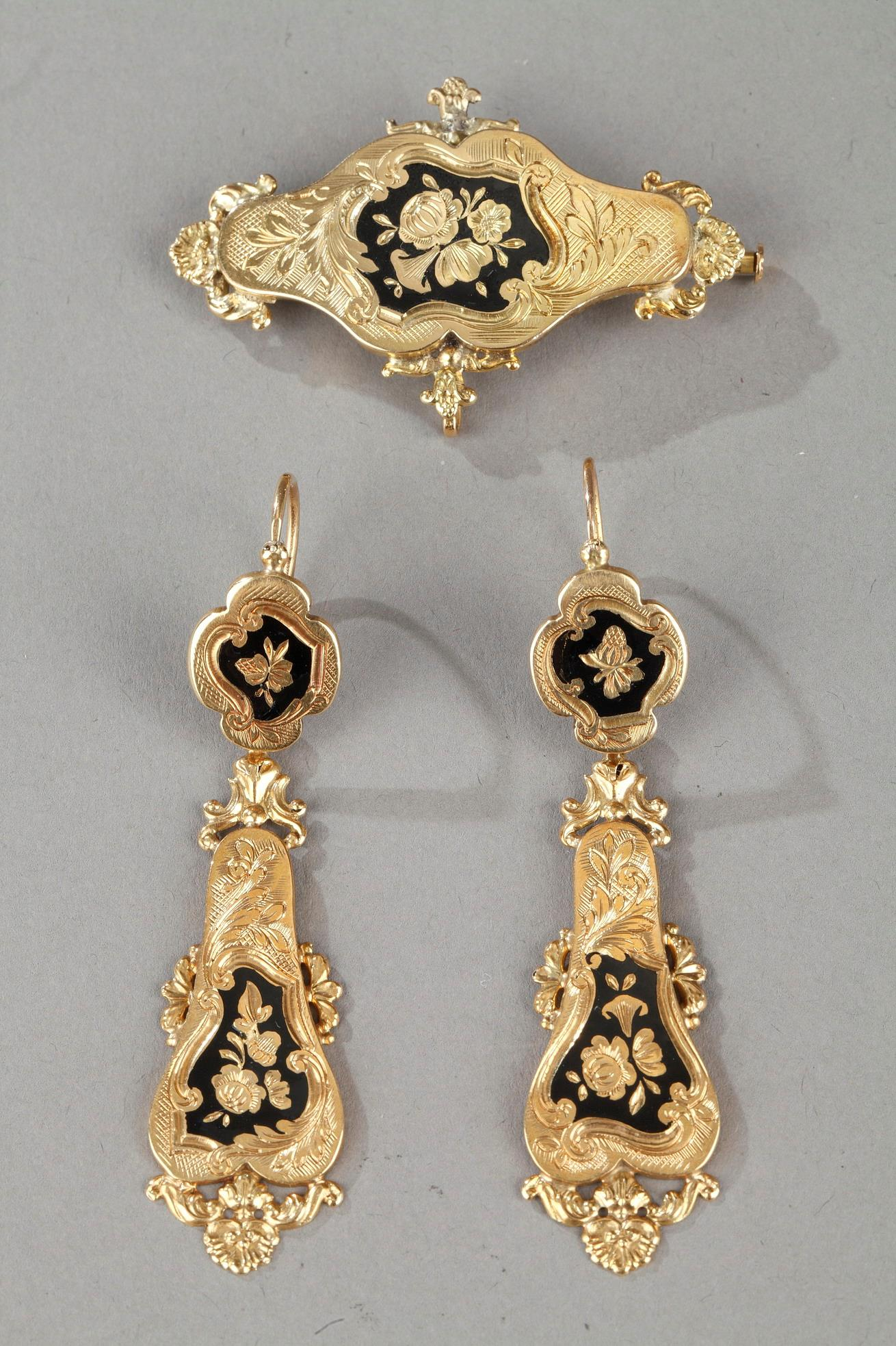 Mid-19th Century Gold set with enamel. Napoleon III