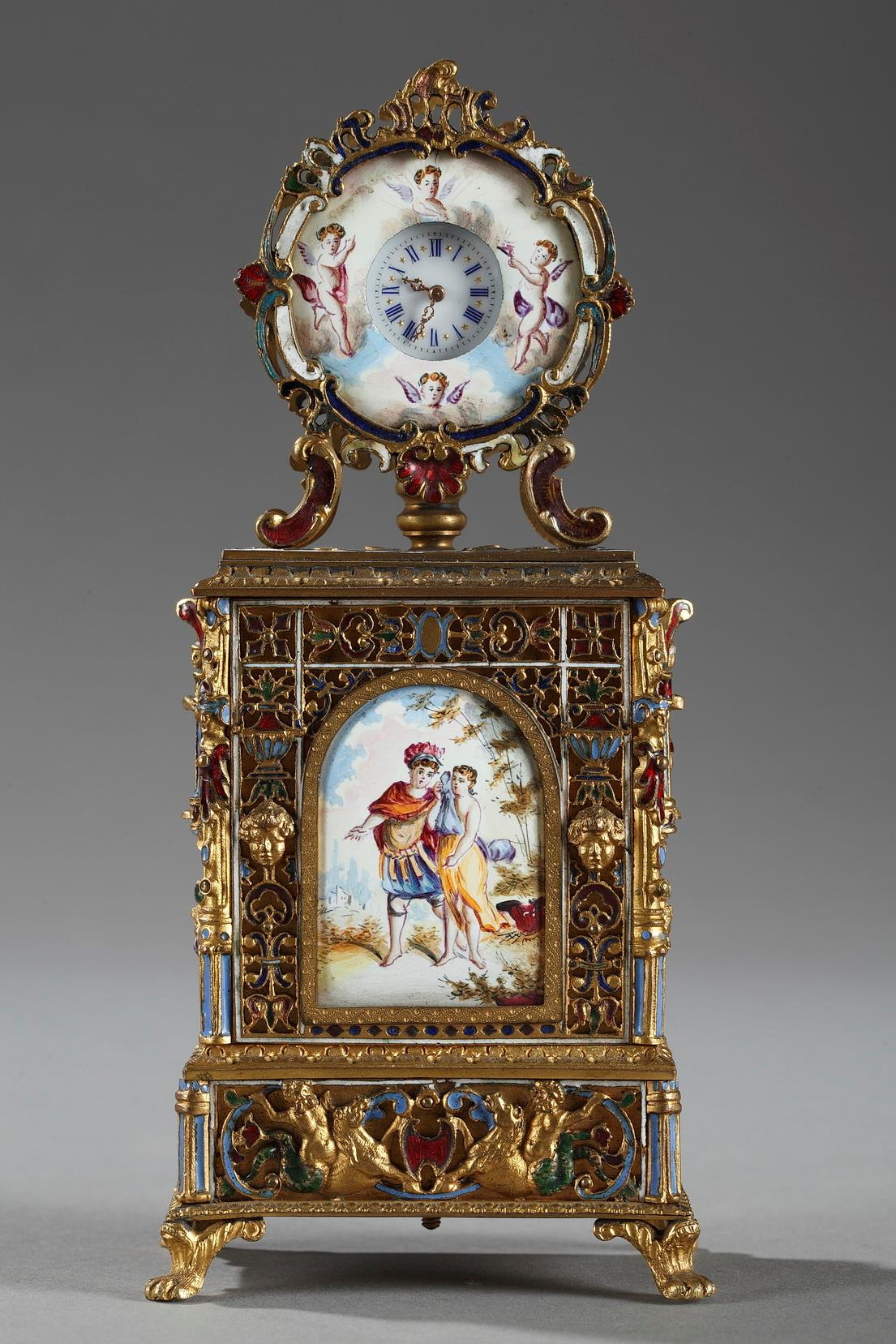 19th century Viennese enamel clock.