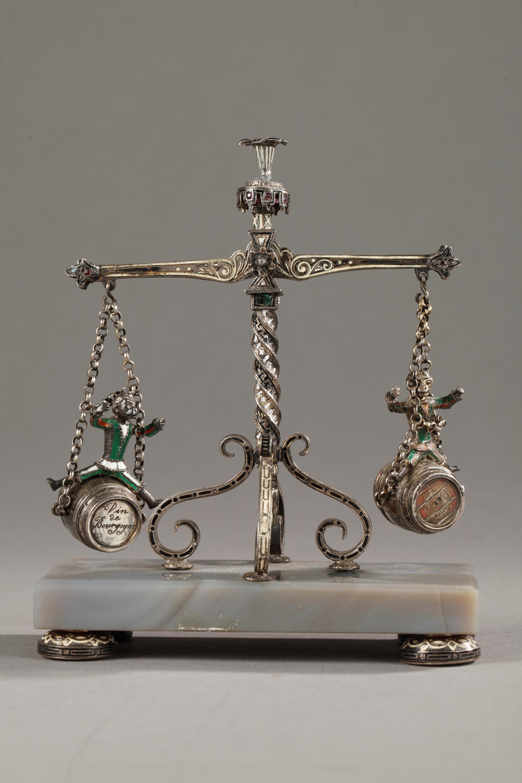 19th century Viennese Silver and enamel table decor. Karl Rössler