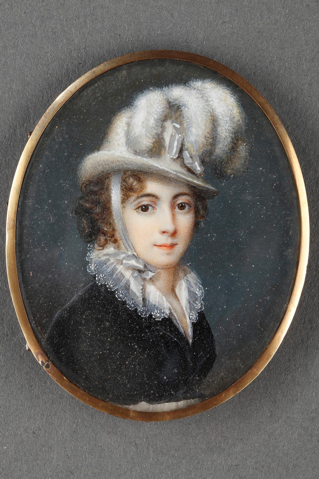 Early 19th century ivory portrait of the Baroness Davida Schickler.