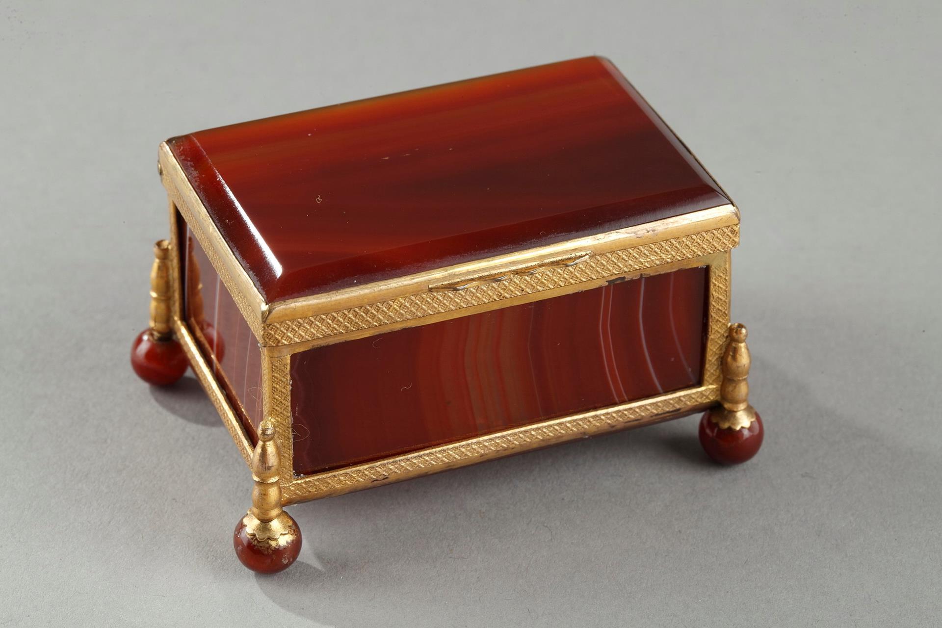 French Restauration agate box.