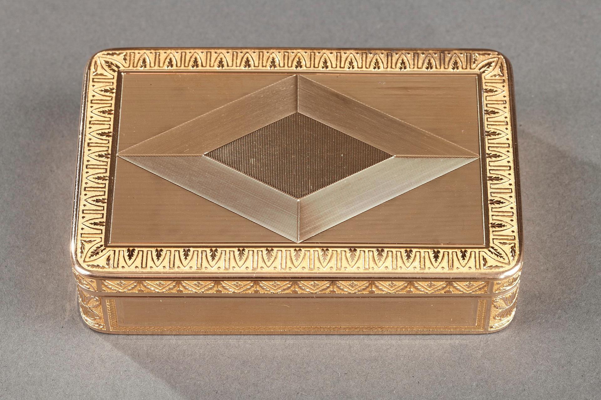 Early 19th century Gold box. Rémond, Lamy, Mercier & Co. à Genève.