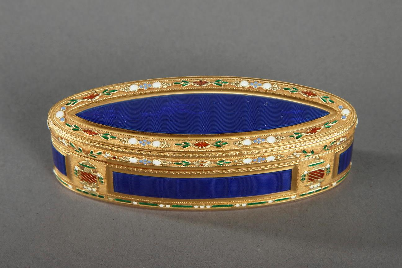 18th Century Gold and Enamel Snuffbox