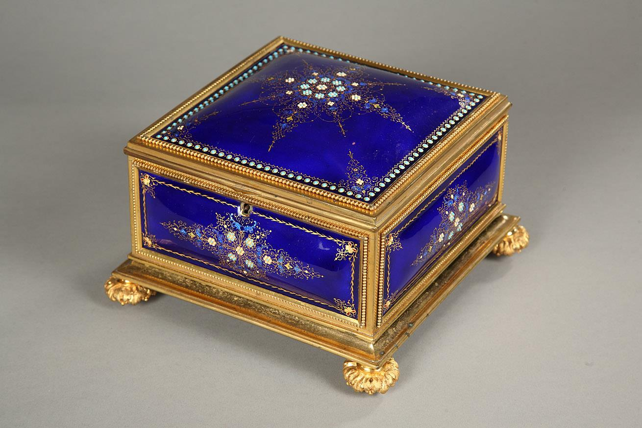 19th Century Enamel of Bresse and Gilt Bronze Mount Box