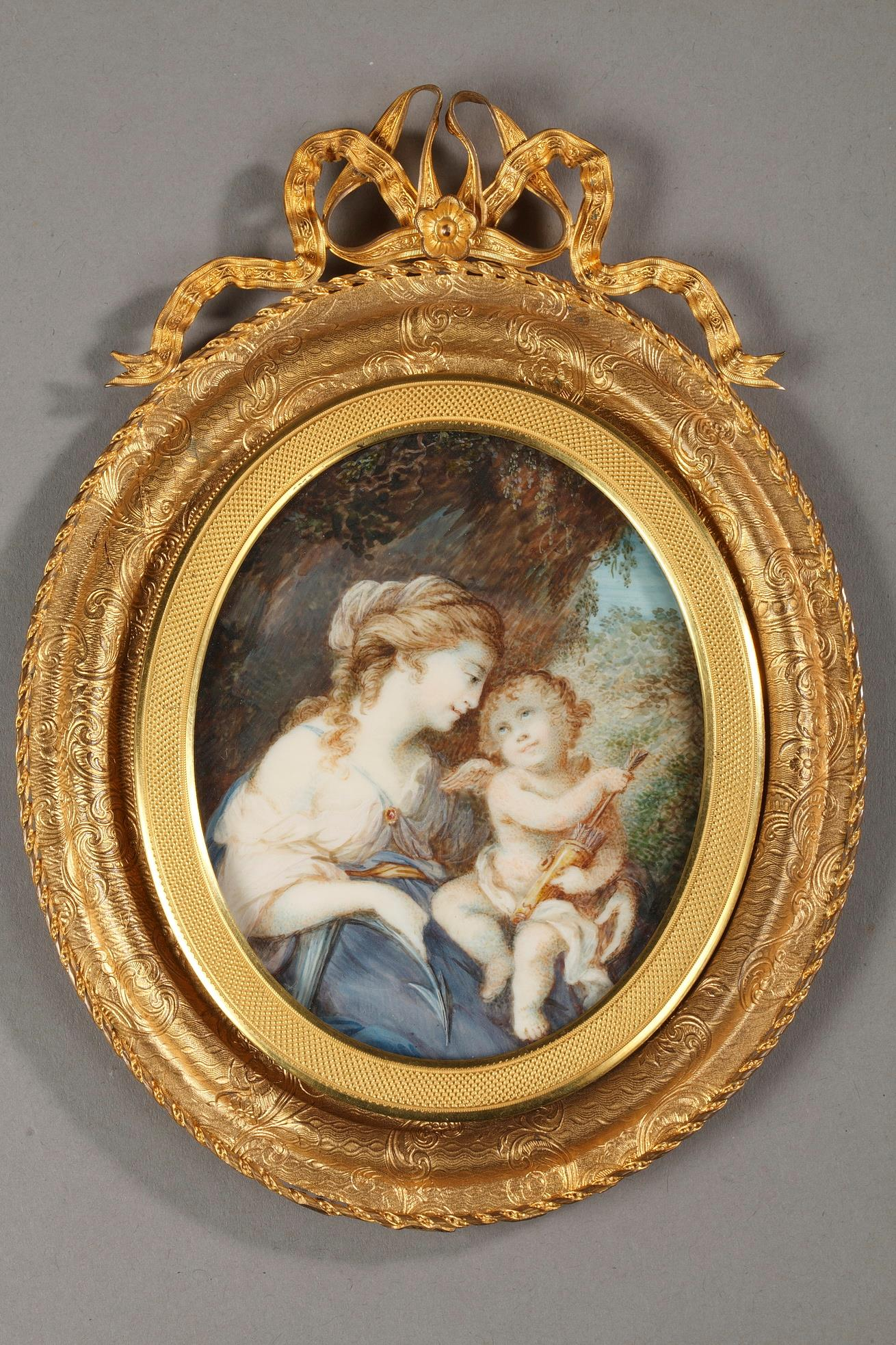 Large miniature on ivory.<br/>   Late 18th century.