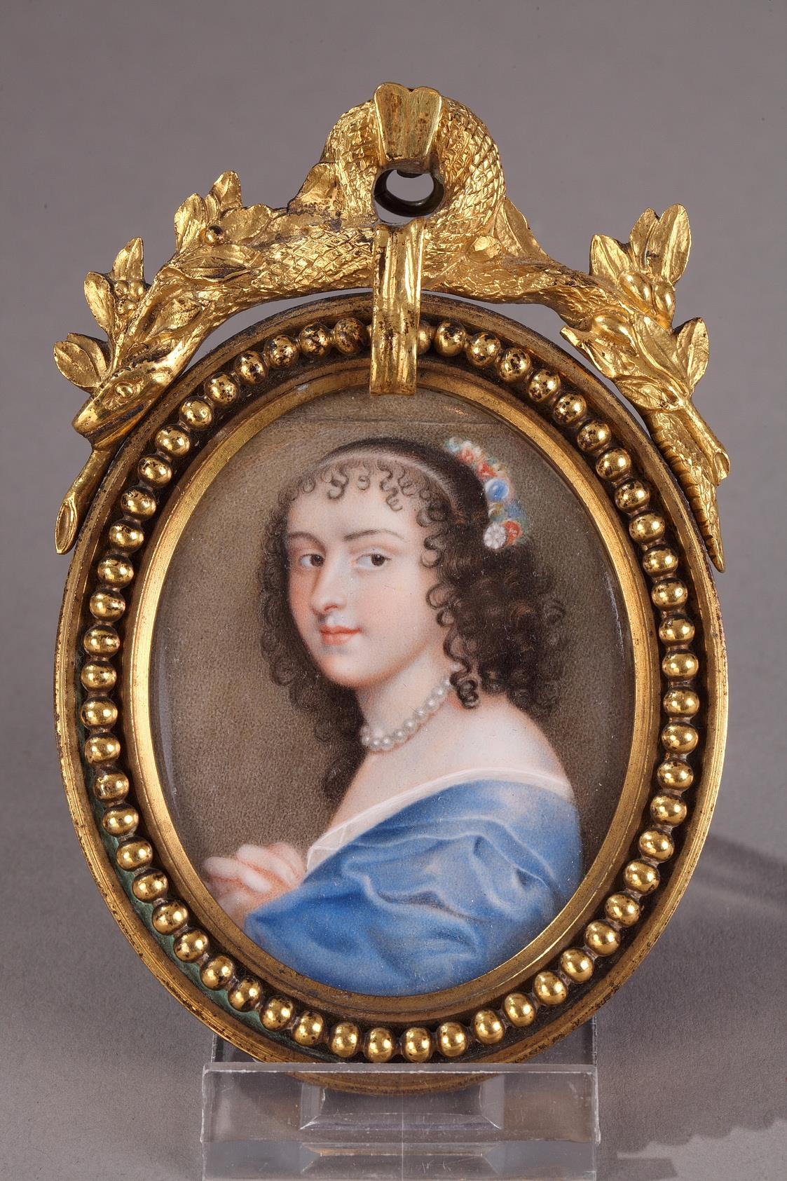"""Portrait Presumed from Ninon De Lenclos. Ivory. 19th Century."""